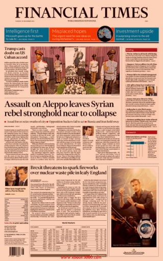 All pages from Financial Times (Asia), Tuesday, November 29, 2016