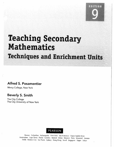 Teaching Secondary Mathematics Textbook