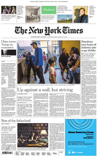 The New York Times International - 10.08.2019 - 11.08.2019