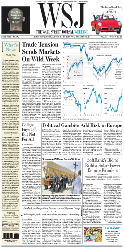 The Wall Street Journal - 10.08.2019 - 11.08.2019