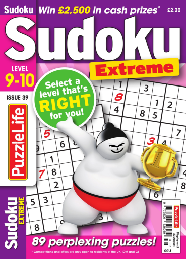 PuzzleLife Sudoku Extreme – July 2019