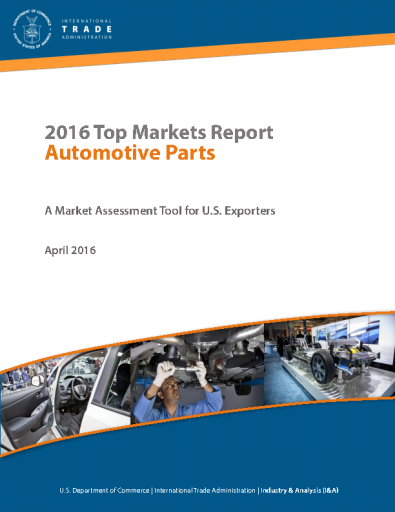 2016 Top Markets Report - Automotive Parts