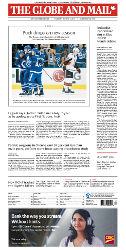 The Globe and Mail - 03.11.2019