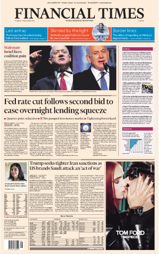 Financial Times Europe - 19.09.2019