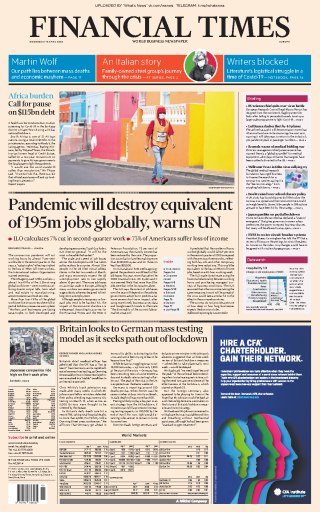 Financial Times Europe - 08.04.2020