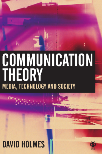 Communication Theory Media, Technology and Society