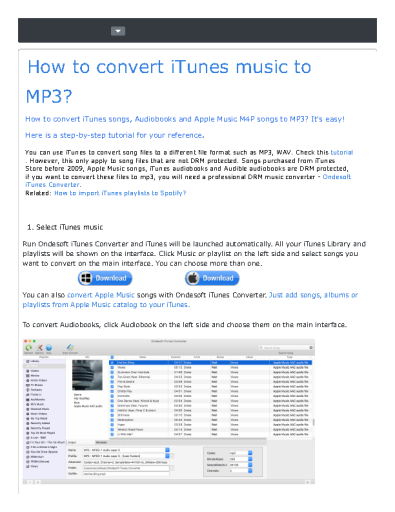 How to convert iTunes music to MP3?