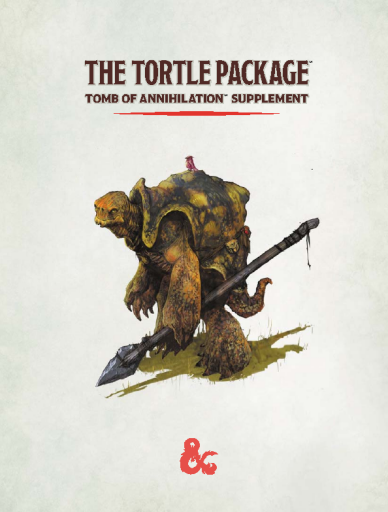 D&D 5E - The Tortle Package