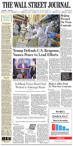 Wall St.Journal 27Feb2020
