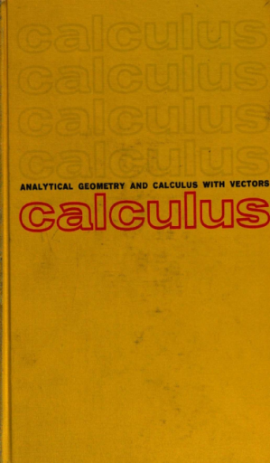 Analytic Geometry and Calculus, with Vectors pdf