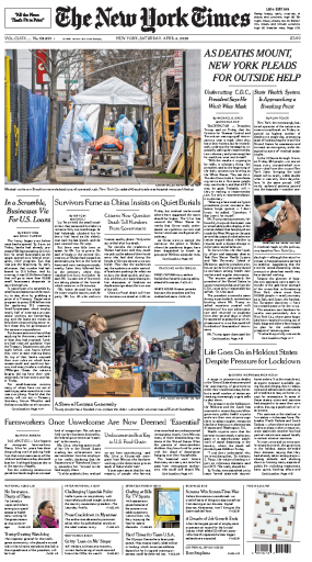 The New York Times. April 04, 2020