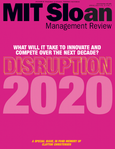 MIT Sloan Management Review - 03.2020