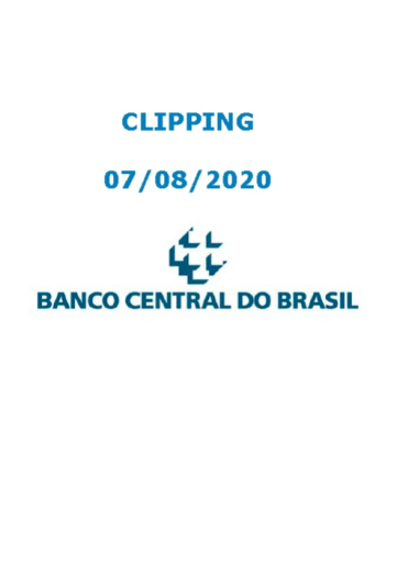 Clipping Banco Central (2020-08-07)