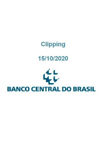Clipping Banco Central (2020-10-15)