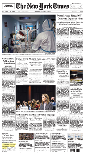 The New York Times - USA (2020-10-15)