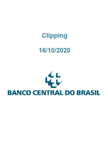 Clipping Banco Central (2020-10-16)
