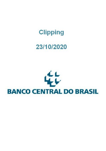 Clipping Banco Central (2020-10-23)