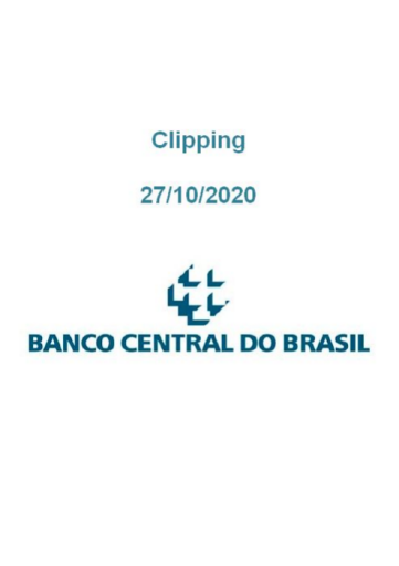 Clipping Banco Central (2020-10-27)