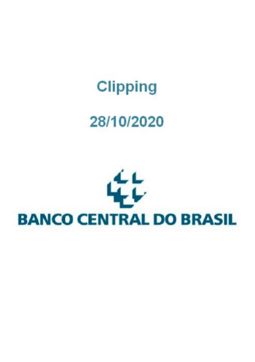 Clipping Banco Central (2020-10-28)