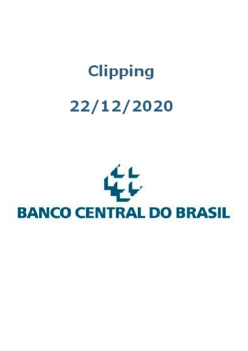 Clipping Banco Central (2020-12-22)