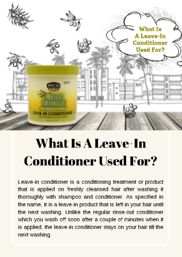 Uses And Benefits of Leave In Conditioner