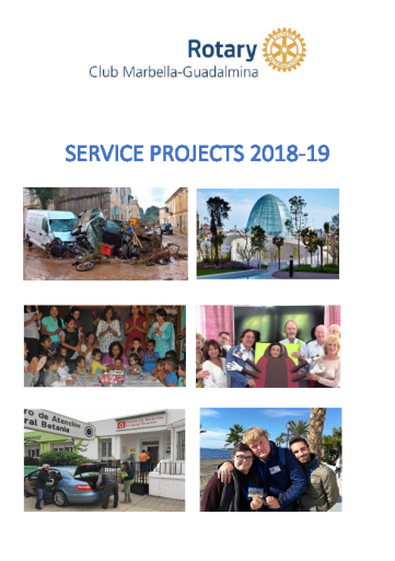 Rotary Club Marbella-Guadalmina Service Projects 2018-19