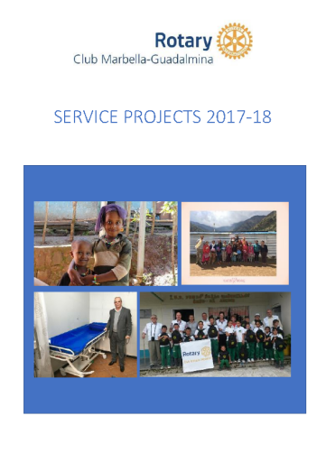Rotary Club Marbella-Guadalmina Service Projects 2017-18
