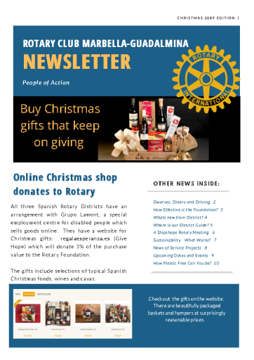 RCMG Christmas newsletter 2019