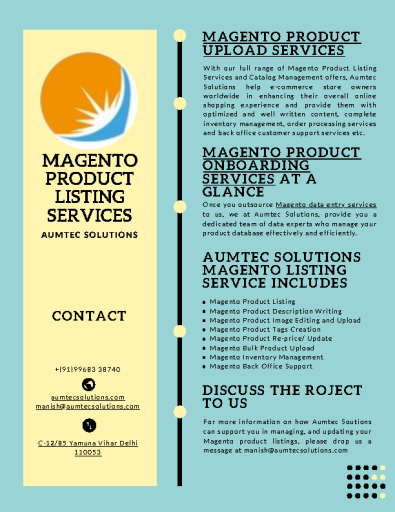 Magento product listing & upload service
