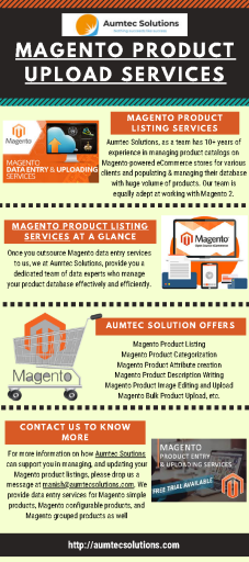 Magento Product Listing & Upload Services