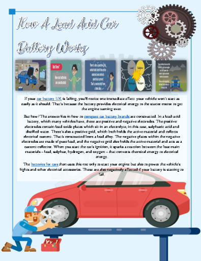 How A Lead-Acid Car Battery Works