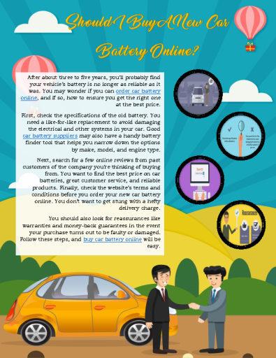 Should I Buy A New Car Battery Online