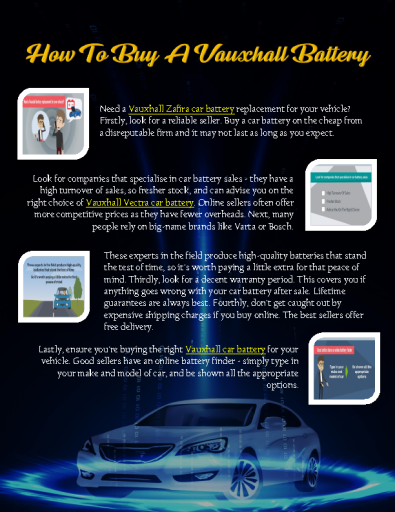 How To Buy A Vauxhall Battery