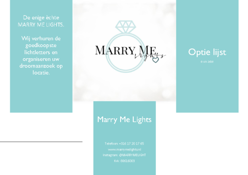 De enige èchte MARRY ME LIGHTS.
