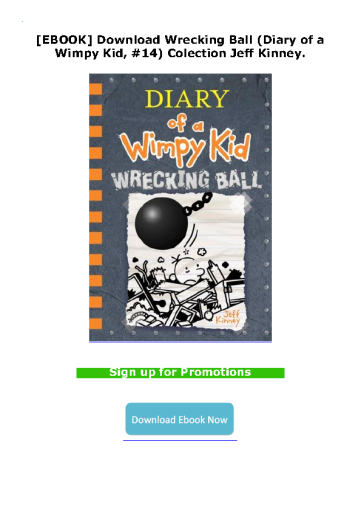 [EBOOK] Download Wrecking Ball (Diary of a Wimpy Kid, #14) Colection Jeff Kinney.