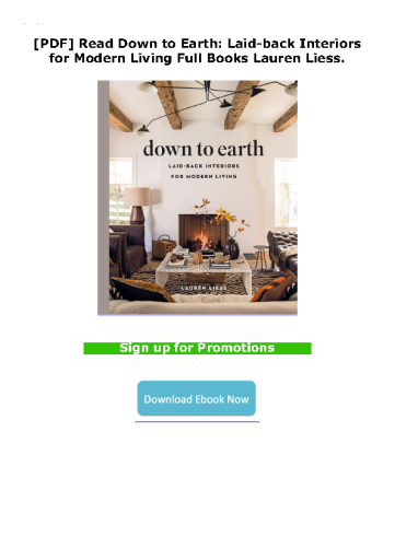 [PDF] Read Down to Earth: Laid-back Interiors for Modern Living Full Books Lauren Liess.