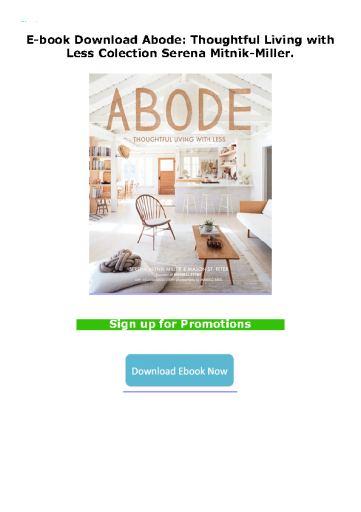 E-book Download Abode: Thoughtful Living with Less Colection Serena Mitnik-Miller.