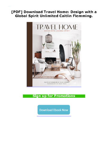 [PDF] Download Travel Home: Design with a Global Spirit Unlimited Caitlin Flemming.