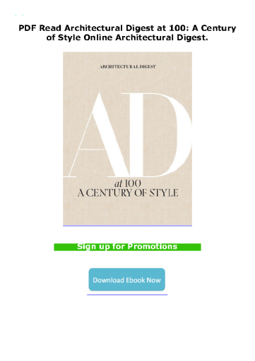PDF Read Architectural Digest at 100: A Century of Style Online Architectural Digest.