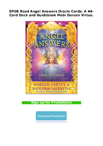EPUB Read Angel Answers Oracle Cards: A 44-Card Deck and Guidebook Mobi Doreen Virtue.