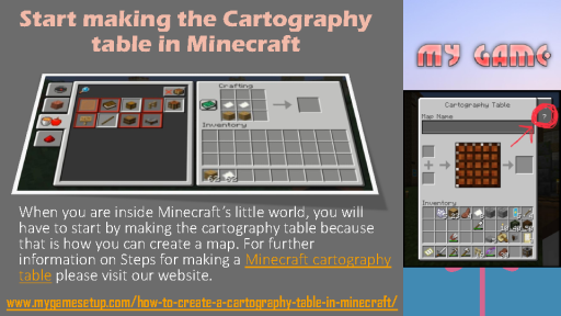 Start making the Cartography table in Minecraft